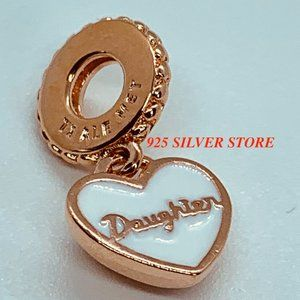 Pandora Rose Gold DAUGHTER LOVE Charm